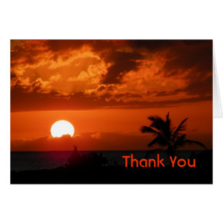 Hawaii Sunset Thank You Card