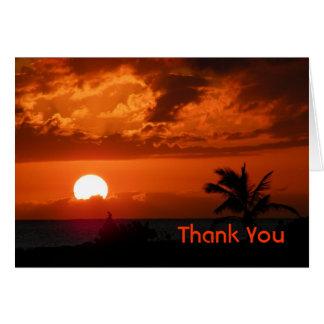 Hawaii Sunset Thank You Card
