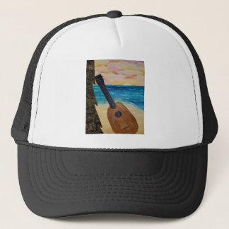 hawaii sunset trucker hat
