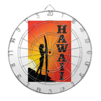 Hawaii surf girl dartboard