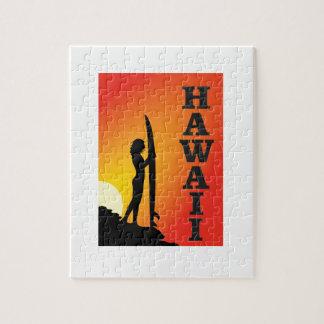 Hawaii surf girl jigsaw puzzle
