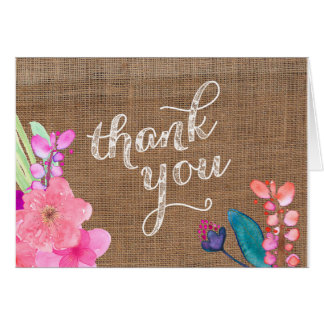 Hawaii thank you card, Luau thank you card 5x7