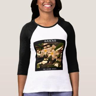 Hawaii The Aloha State (Pumeria) T-Shirt