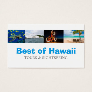 Hawaii Tourist Coordinator Travel Agent Business Card
