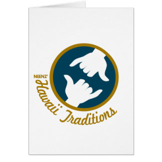 Hawaii Traditions Logo Greeting Card