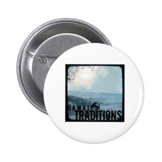 Hawaii Traditions Vintage Beach Photo Button