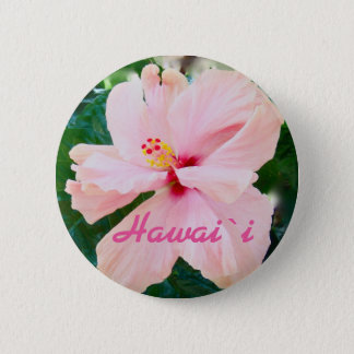 Hawaii Tropical Pink Flower 6 Cm Round Badge