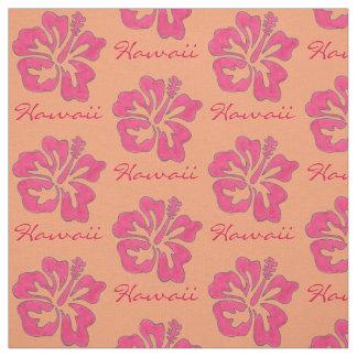Hawaii Tropical Pink Hibiscus Flower Hawaiian Fabric