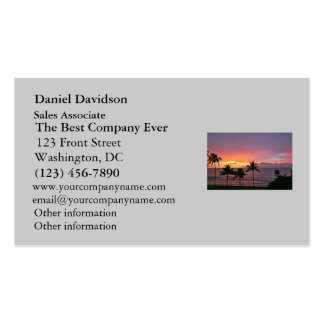 Hawaii Tropical Sunset on the Beach Pack Of Standard Business Cards