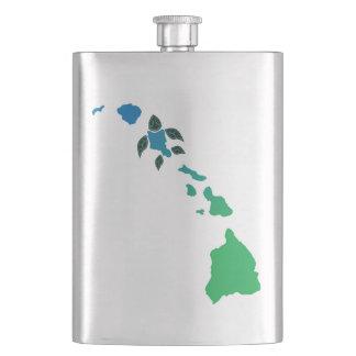 Hawaii Turtle and Islands Flasks