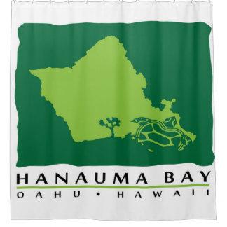 Hawaii Turtle and Oahu Island Shower Curtain