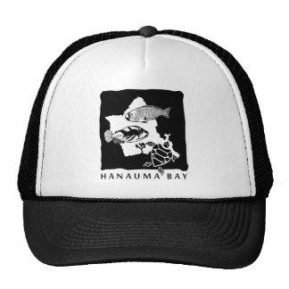 Hawaii Turtle and Oahu Map Mesh Hats