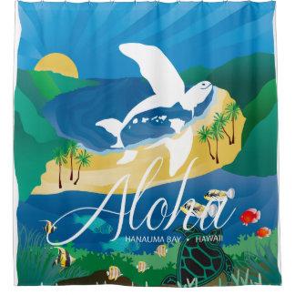 Hawaii Turtle and Ocean 12 Shower Curtain