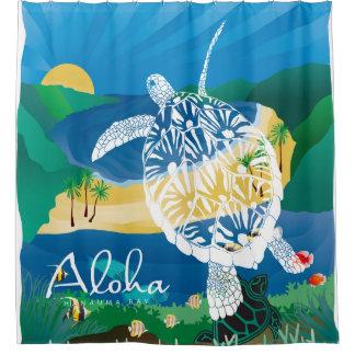 Hawaii Turtle and Ocean 7 Shower Curtain
