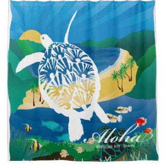 Hawaii Turtle and Ocean 8 Shower Curtain