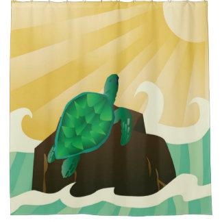 Hawaii Turtle and Sunshine Shower Curtain