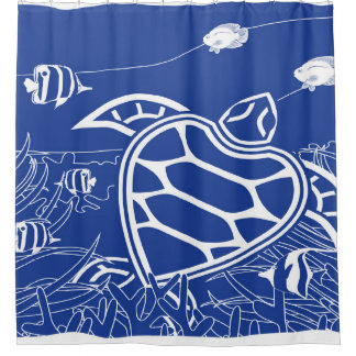Hawaii Turtle - Blue Shower Curtain