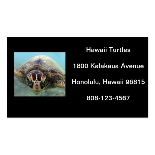 Hawaii Turtle Business Card Template