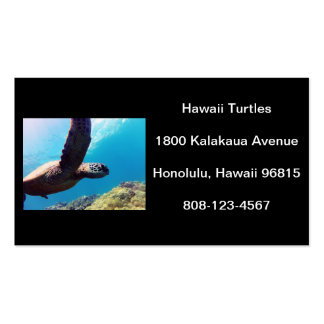 Hawaii Turtle Double-Sided Standard Business Cards (Pack Of 100)
