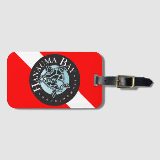 Hawaii Turtle Dive Flag Luggage Tag