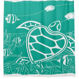 Hawaii Turtle - Green Shower Curtain