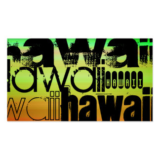 Hawaii; Vibrant Green, Orange, & Yellow Double-Sided Standard Business Cards (Pack Of 100)