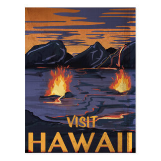 Hawaii Vintage Travel poster Postcard