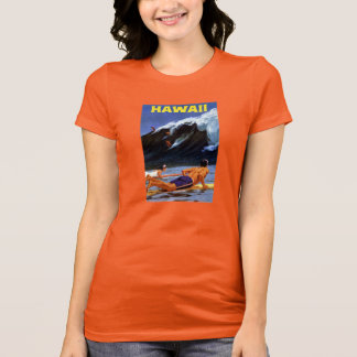 Hawaii Vintage Travel Poster Restored T-Shirt