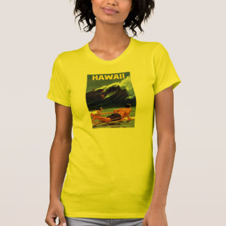 Hawaii Vintage Travel Poster Restored Tee Shirts
