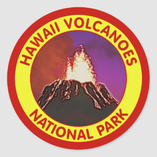 Hawaii Volcanoes National Park Classic Round Sticker