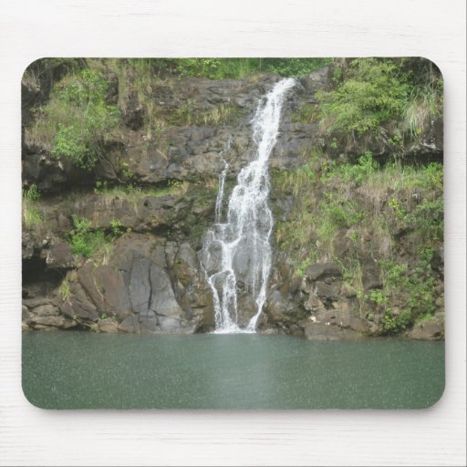 Hawaii Water Fall and Swimming Hole Mouse Pads