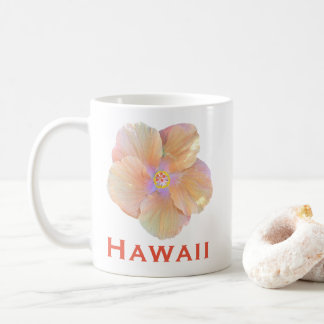 Hawaii Watercolor Hibiscus Flower Coffee Mug
