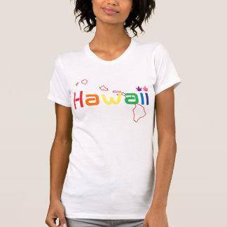 Hawaii Weed Leaf (rainbow color's) Tee Shirt