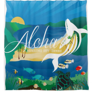Hawaii Whales and Ocean 6 Shower Curtain