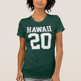 Hawaii With Number (Customizable Number) T-Shirt