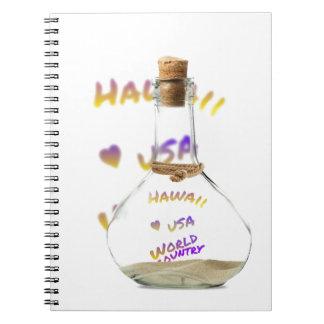 Hawaii world city, Water Bottle Notebook