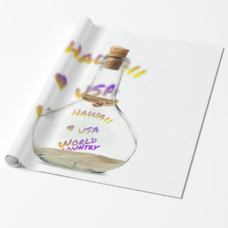 Hawaii world city, Water Bottle Wrapping Paper