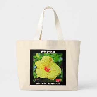 Hawaii Yellow Hibiscus Large Tote Bag