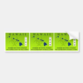 Hawaii Zombie Hunting Permit Bumper Stickers