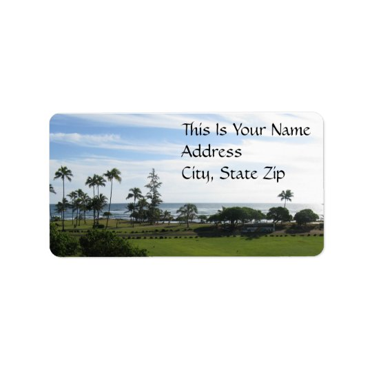 Hawaiian Address Label