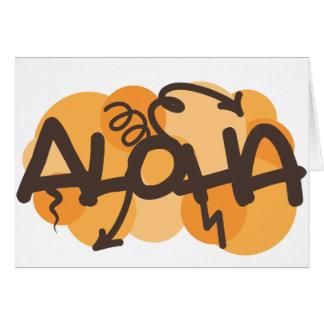 HAwaiian - Aloha graffiti style Cards
