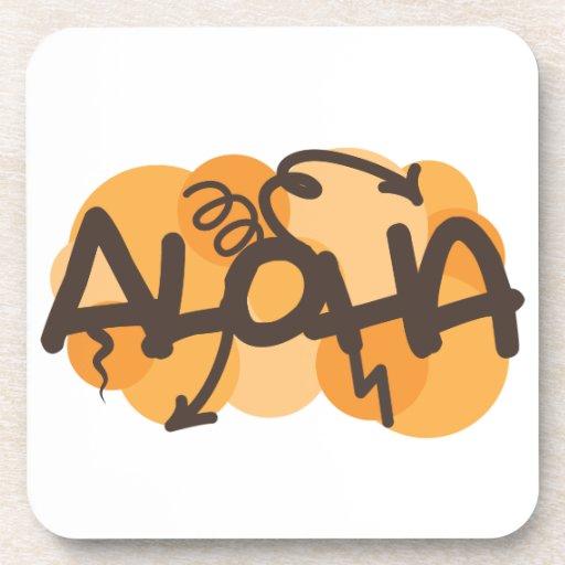 HAwaiian - Aloha graffiti style Beverage Coasters