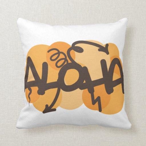 HAwaiian - Aloha graffiti style Pillow