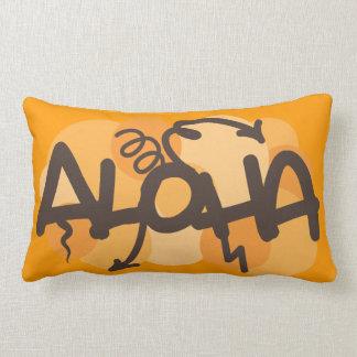 HAwaiian - Aloha graffiti style Throw Pillow