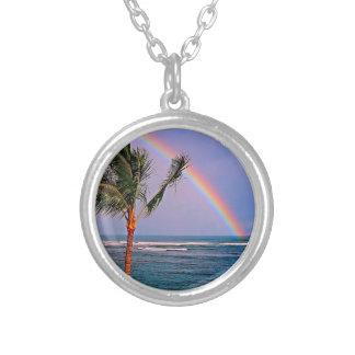 Hawaiian Aloha Style Round Pendant Necklace