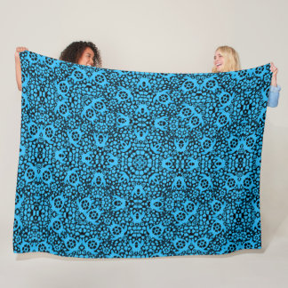 Hawaiian Blue Sea Turtles Satin Foulard Mandala Fleece Blanket