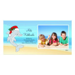 Hawaiian Christmas Dolphin Christmas Photo Card.
