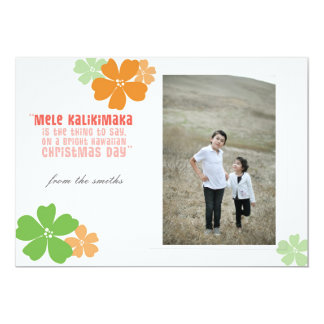 Hawaiian Christmas Holiday Photo Card