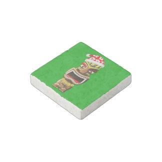 Hawaiian Christmas Santa Tiki Stone Magnet