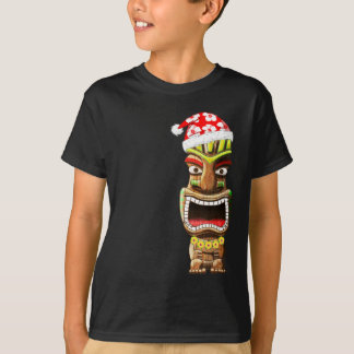 Hawaiian Christmas Santa Tiki T-Shirt